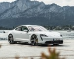 2020 Porsche Taycan Turbo S (Color: Carrara White Metallic) Front Three-Quarter Wallpapers 150x120 (49)