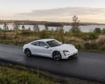2020 Porsche Taycan Turbo S (Color: Carrara White Metallic) Front Three-Quarter Wallpapers 150x120 (48)