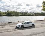 2020 Porsche Taycan Turbo S (Color: Carrara White Metallic) Front Three-Quarter Wallpapers 150x120 (40)
