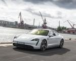 2020 Porsche Taycan Turbo S (Color: Carrara White Metallic) Front Three-Quarter Wallpapers 150x120 (31)