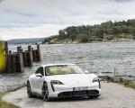 2020 Porsche Taycan Turbo S (Color: Carrara White Metallic) Front Wallpapers 150x120 (50)