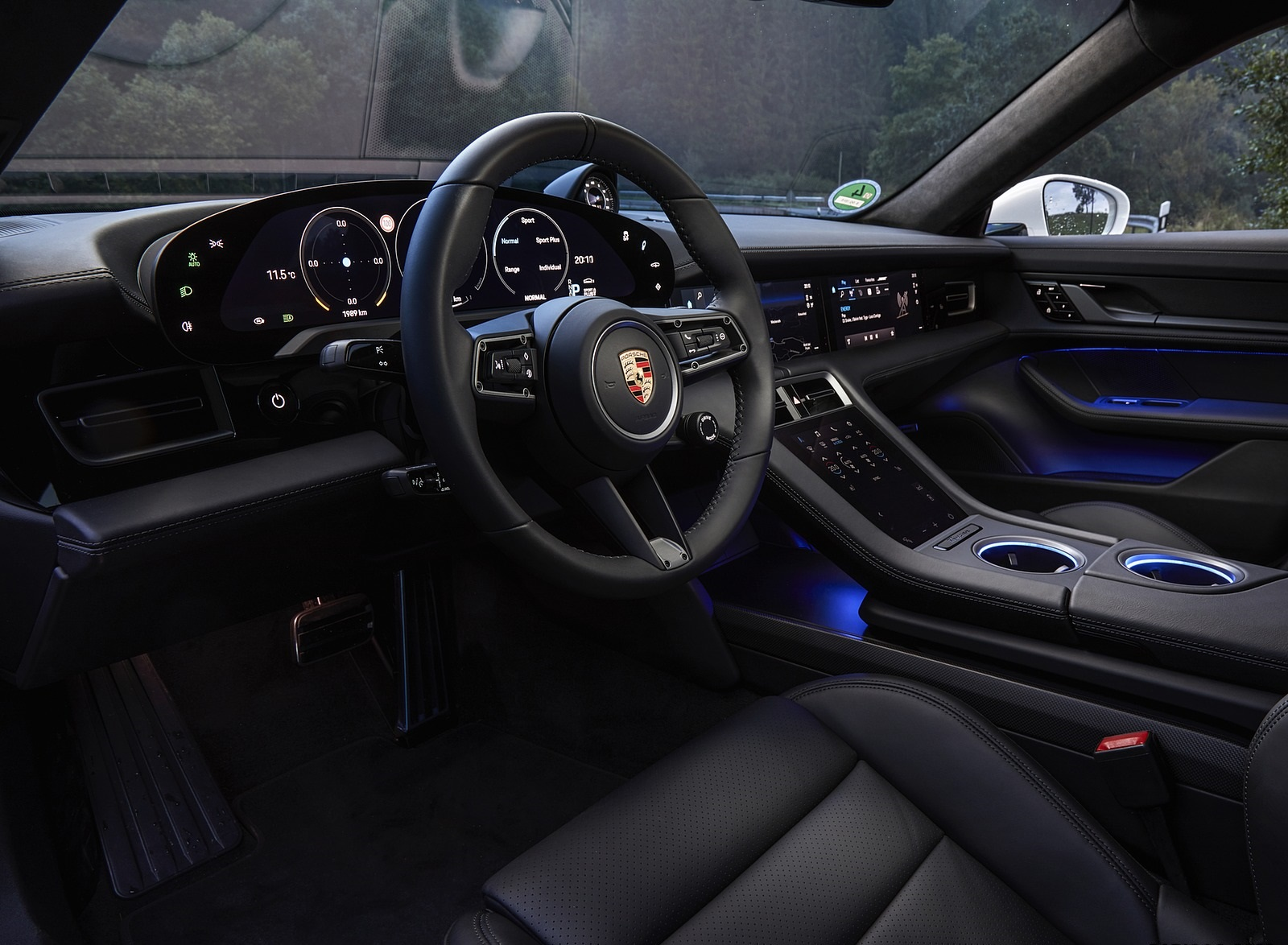 2020 Porsche Taycan Turbo S Color Carrara White Metallic Interior Wallpapers 62 Newcarcars