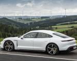 2020 Porsche Taycan Turbo S (Color: Carrara White Metallic) Rear Three-Quarter Wallpapers 150x120 (45)