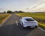 2020 Porsche Taycan Turbo S (Color: Carrara White Metallic) Rear Three-Quarter Wallpapers 150x120 (34)
