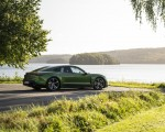 2020 Porsche Taycan Turbo S (Color: Mamba Green Metallic) Rear Three-Quarter Wallpapers 150x120 (15)