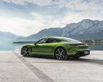 2020 Porsche Taycan Turbo S (Color: Mamba Green Metallic) Rear Three-Quarter Wallpapers 150x120 (14)