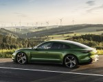 2020 Porsche Taycan Turbo S (Color: Mamba Green Metallic) Side Wallpapers 150x120 (18)