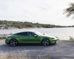 2020 Porsche Taycan Turbo S (Color: Mamba Green Metallic) Side Wallpapers 150x120 (17)