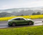 2020 Porsche Taycan Turbo S (Color: Mamba Green Metallic) Side Wallpapers 150x120 (7)