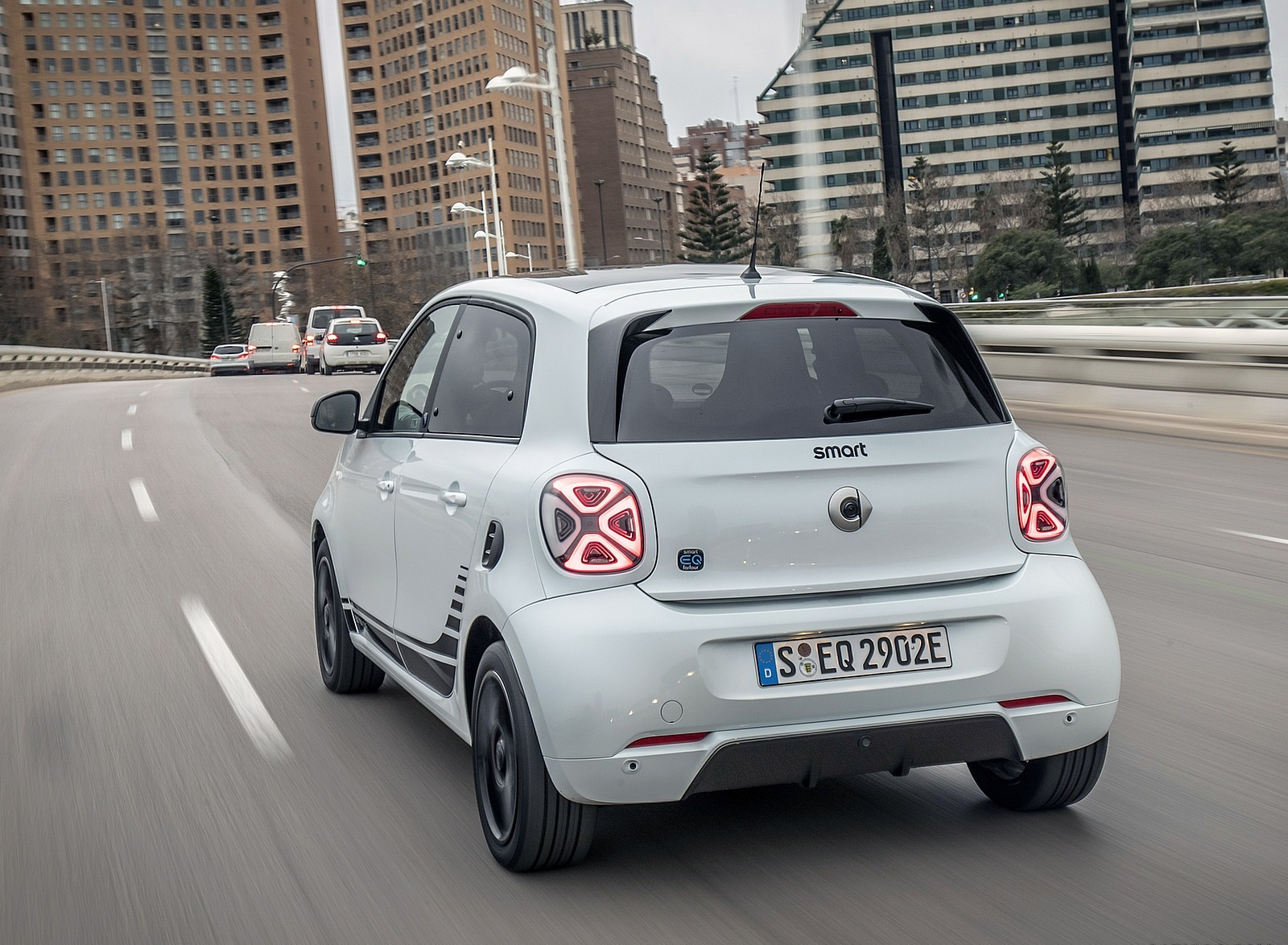2020 Smart EQ ForFour Pulse Line (Color: Ice White) Rear Three-Quarter Wallpapers (5)