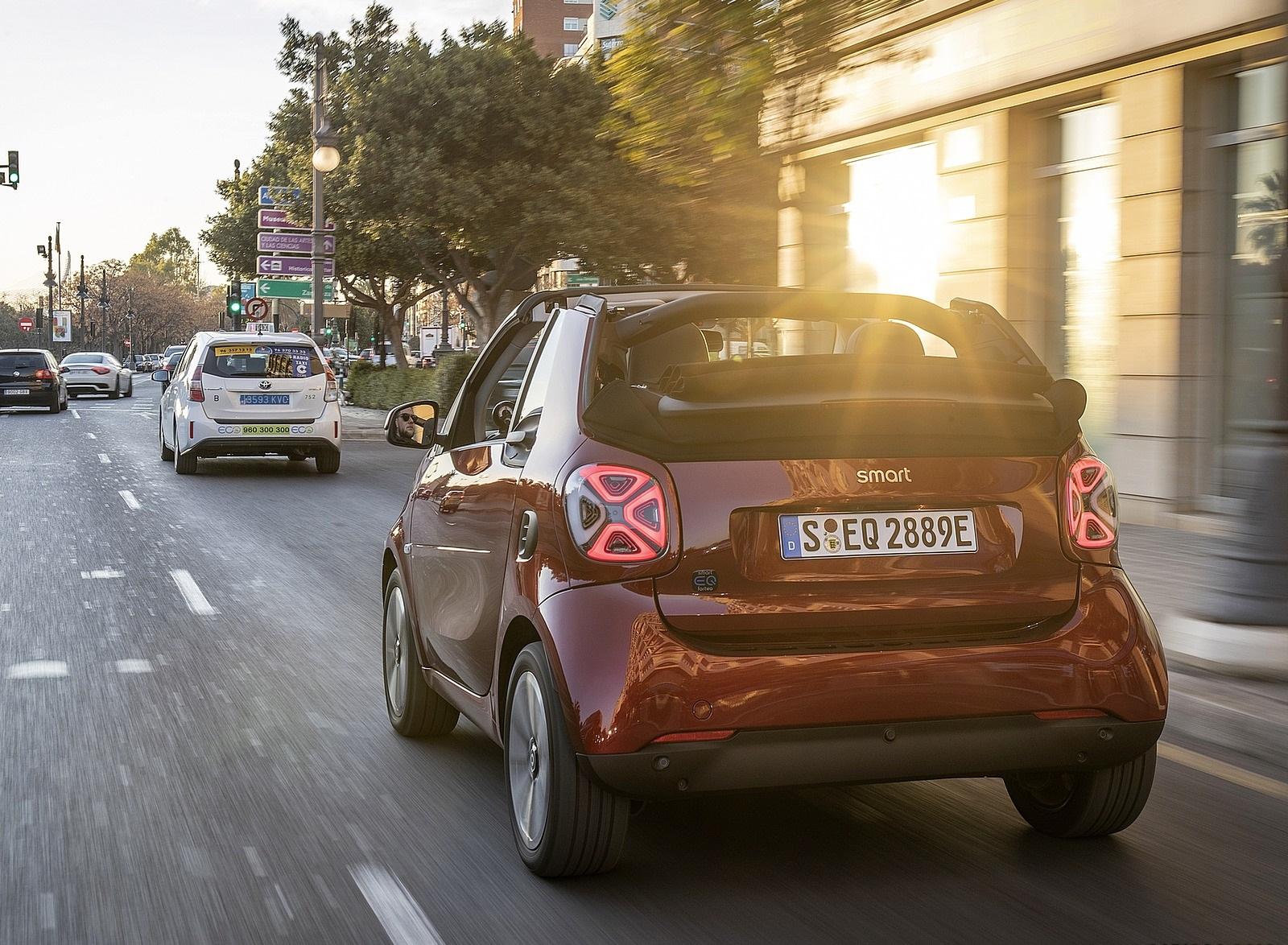 2020 Smart EQ ForTwo Cabrio Prime Line (Color: Carmine Red) Rear Three-Quarter Wallpapers (4)