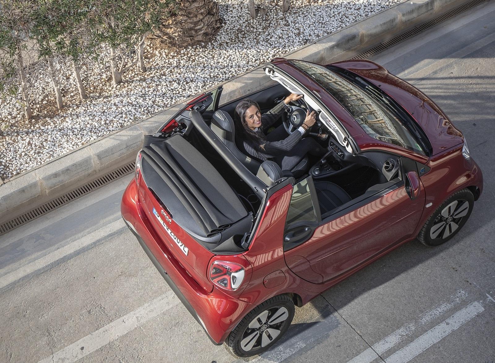 2020 Smart EQ ForTwo Cabrio Prime Line (Color: Carmine Red) Top Wallpapers (9)