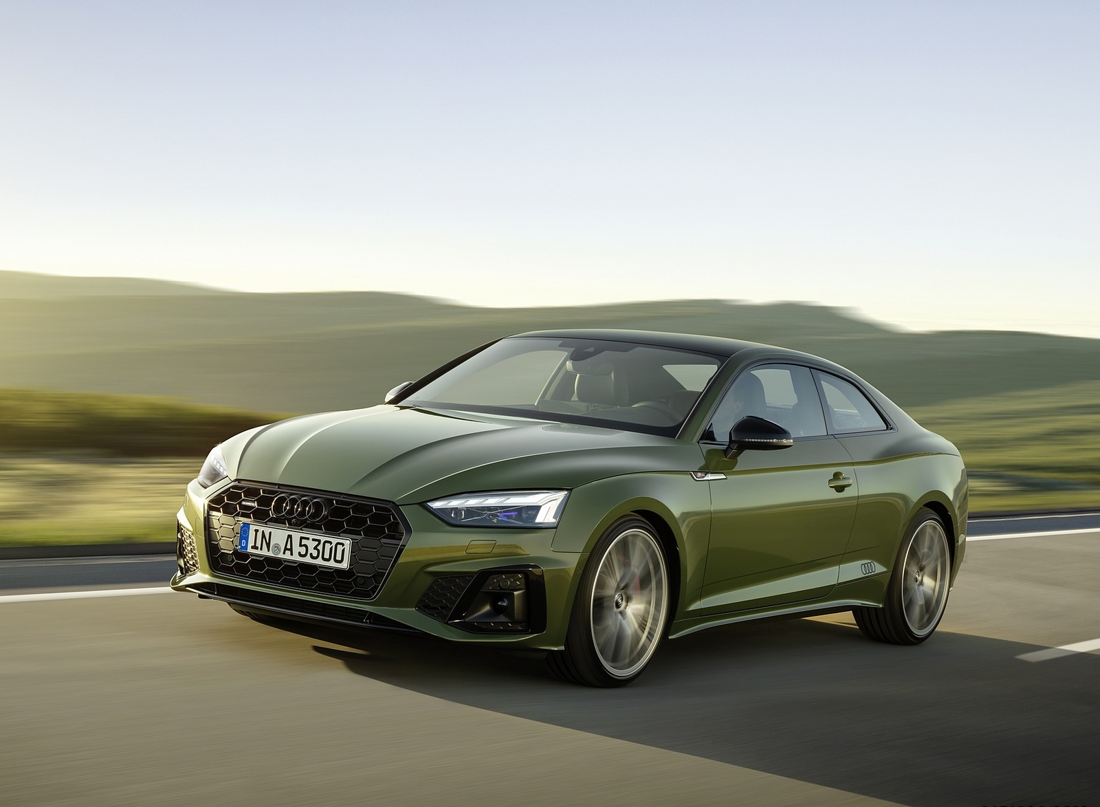 2020 Audi A5 Coupe (Color: District Green) Front Three-Quarter Wallpapers (1)