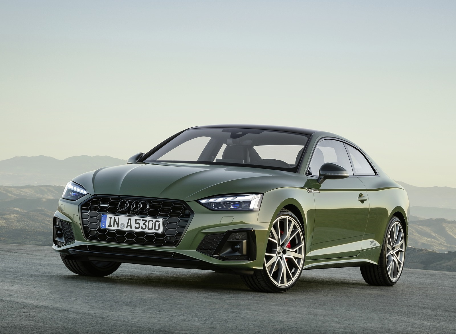 2020 Audi A5 Coupe (Color: District Green) Front Three-Quarter Wallpapers (10)