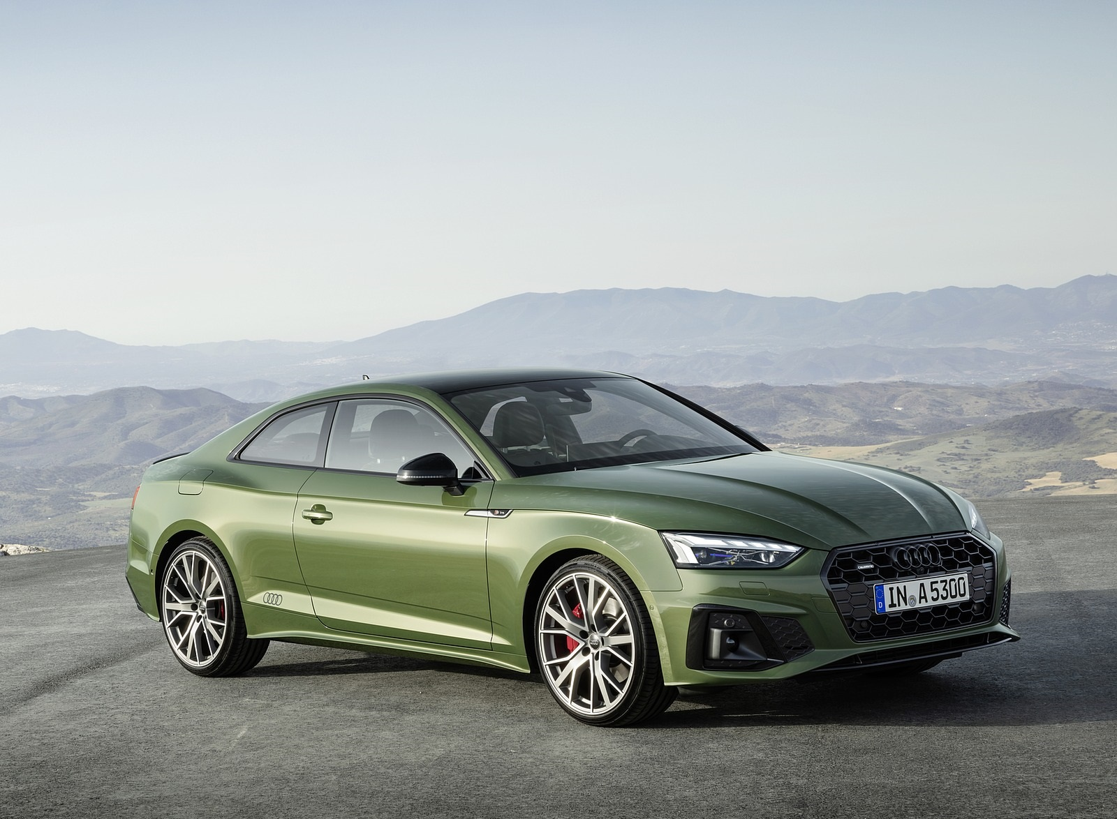 2020 Audi A5 Coupe (Color: District Green) Front Three-Quarter Wallpapers (11)
