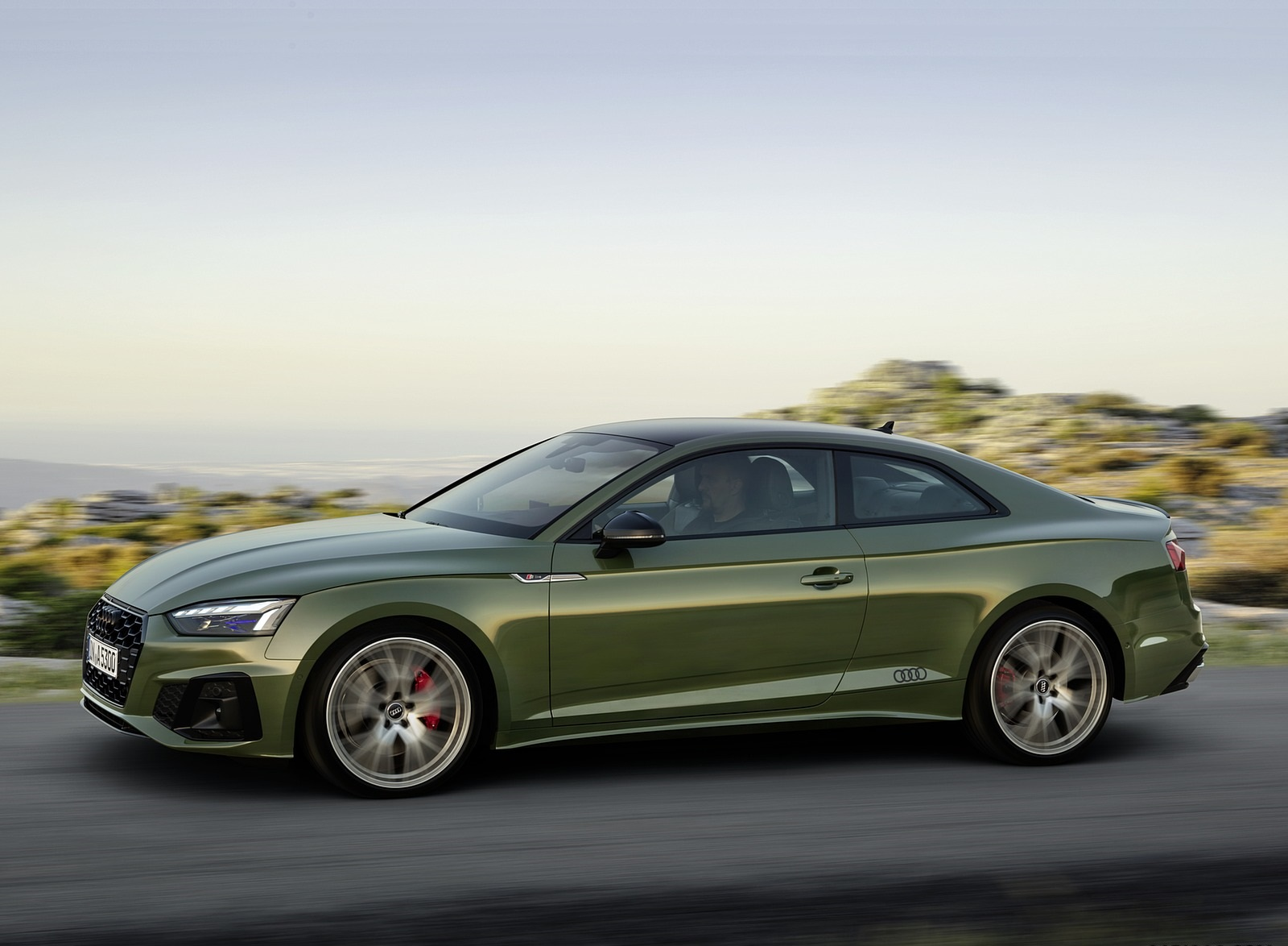 2020 Audi A5 Coupe (Color: District Green) Front Three-Quarter Wallpapers (2)