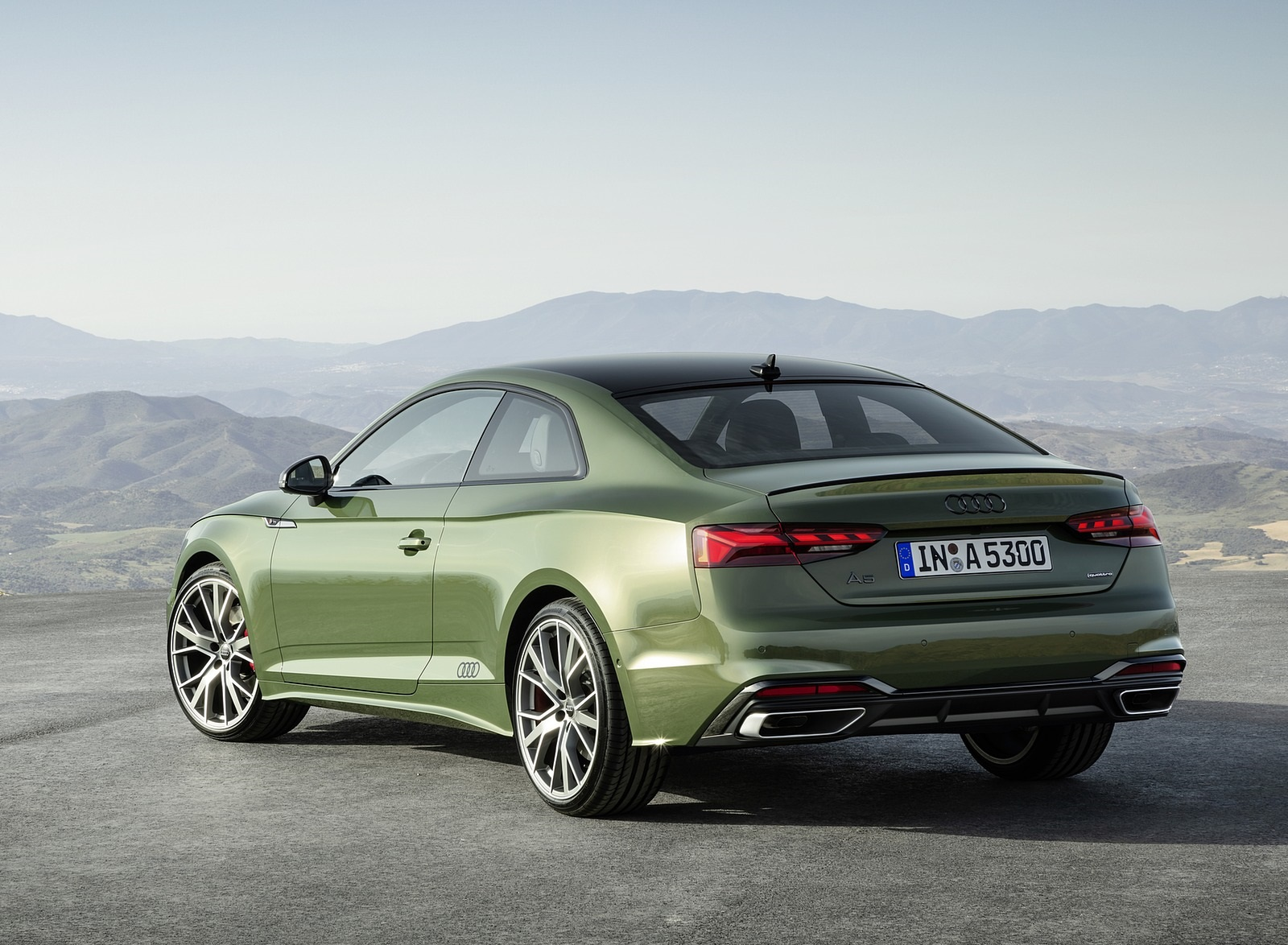 2020 Audi A5 Coupe (Color: District Green) Rear Three-Quarter Wallpapers (13)