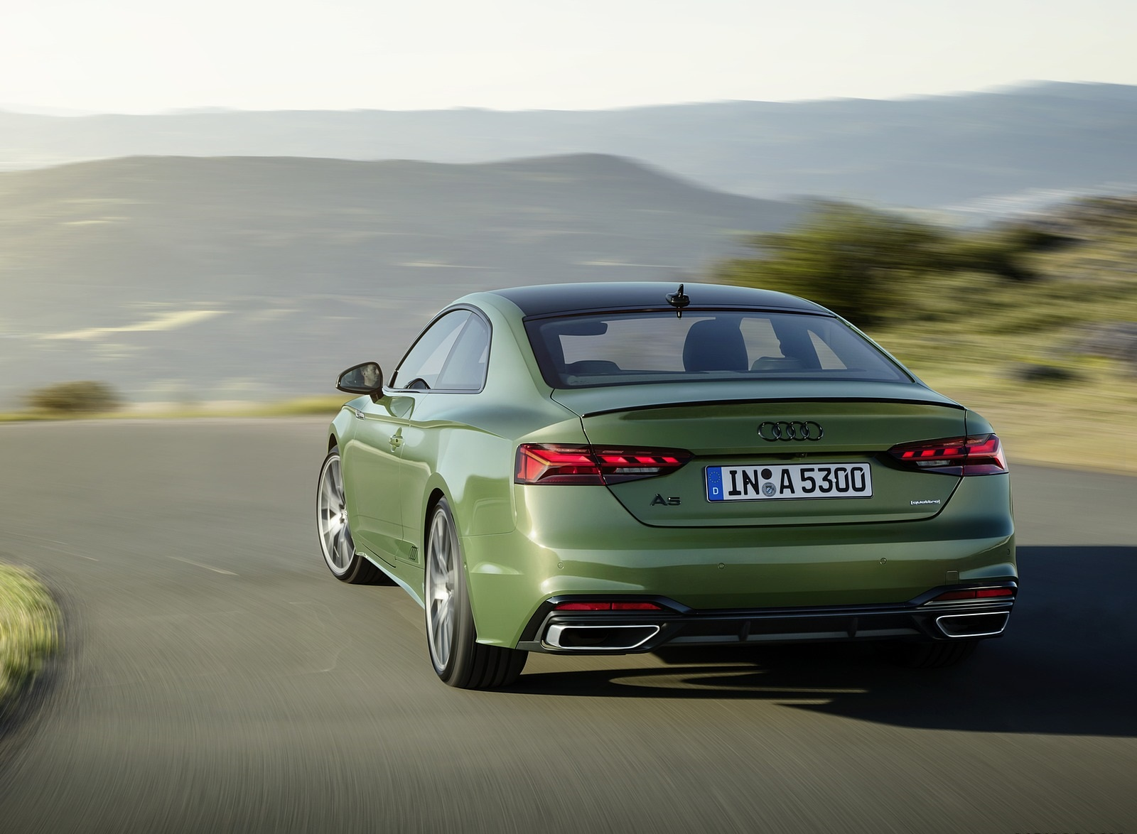2020 Audi A5 Coupe (Color: District Green) Rear Wallpapers (4)