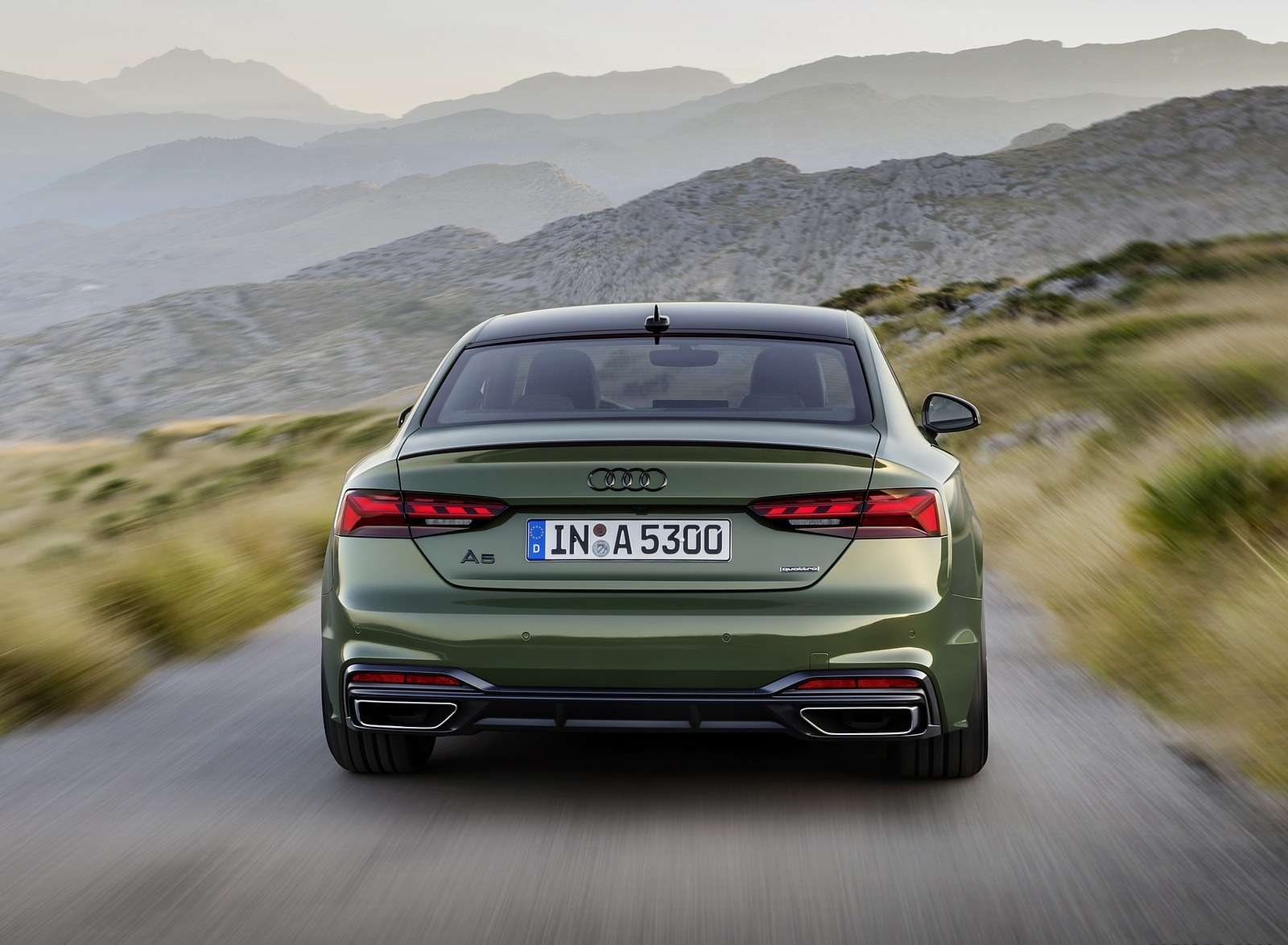 2020 Audi A5 Coupe (Color: District Green) Rear Wallpapers (5)