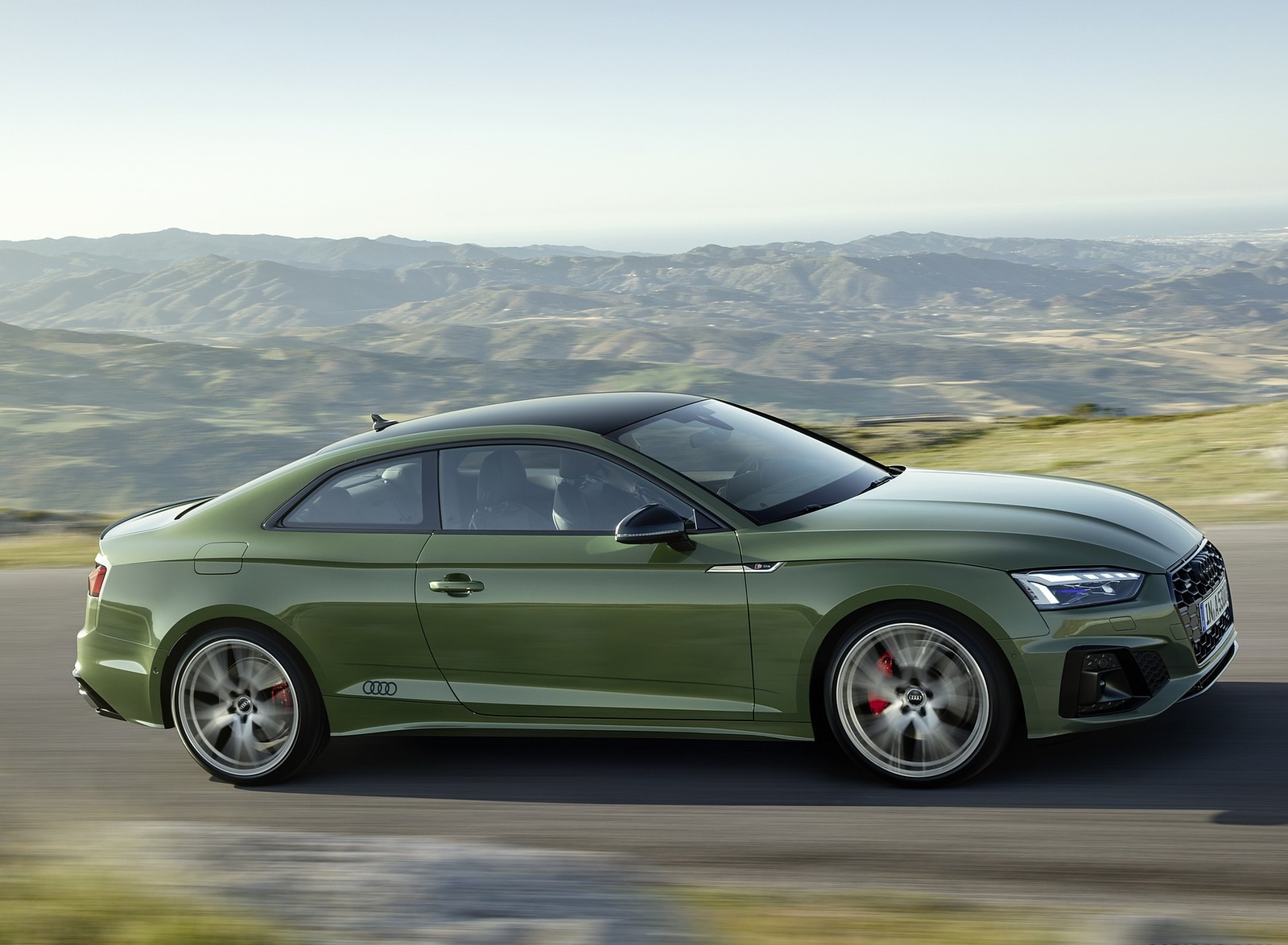 2020 Audi A5 Coupe (Color: District Green) Side Wallpapers (6)