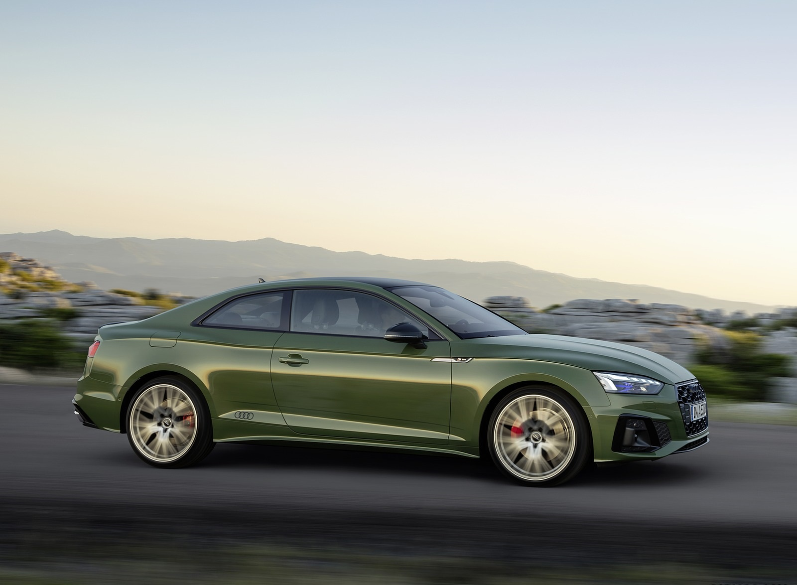 2020 Audi A5 Coupe (Color: District Green) Side Wallpapers (7)