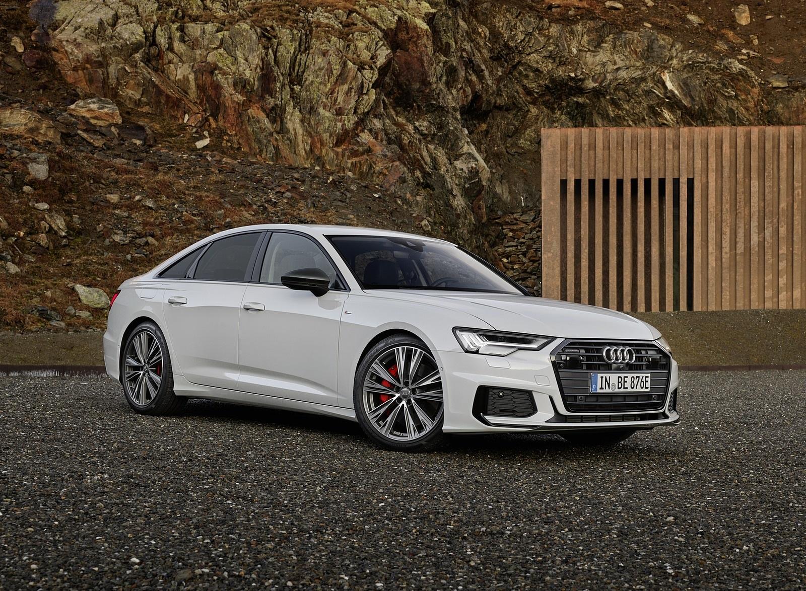 2020 Audi A6 55 TFSI e quattro (Color: Glacier White) Front Three-Quarter Wallpapers (1)