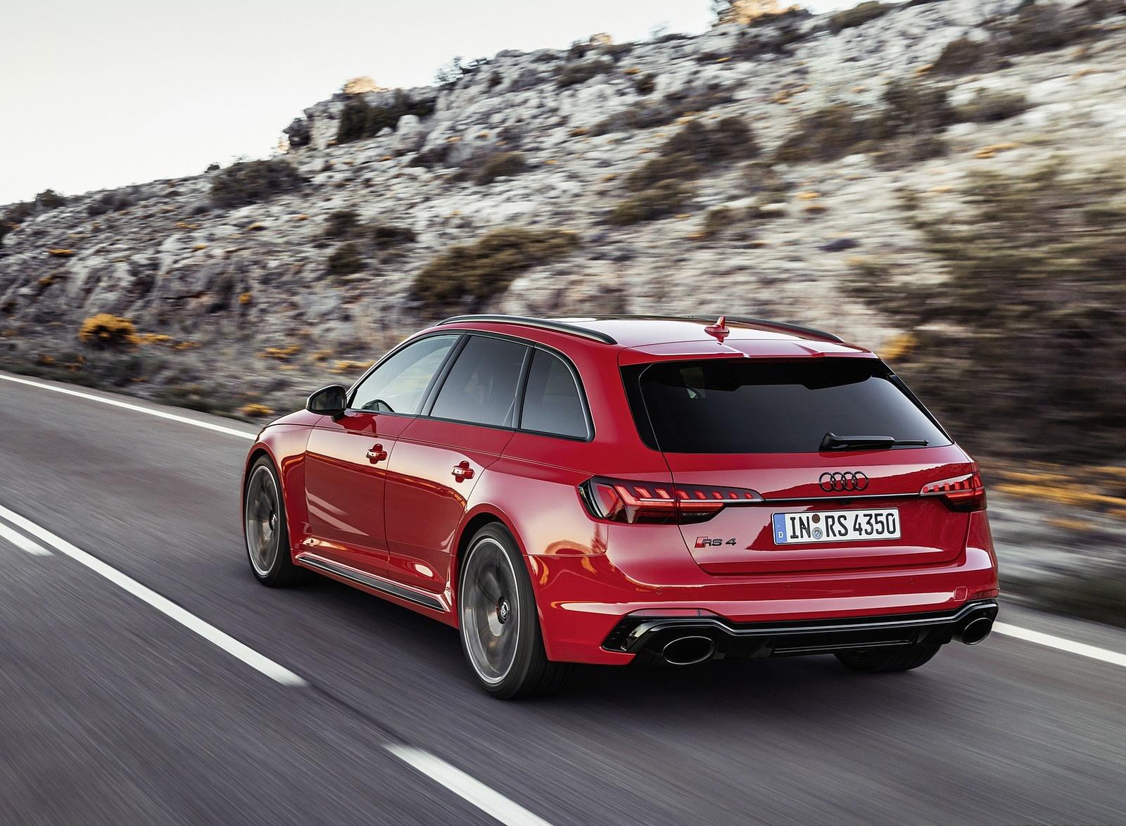 2020 Audi RS 4 Avant (Color: Tango Red) Rear Three-Quarter Wallpapers (6)