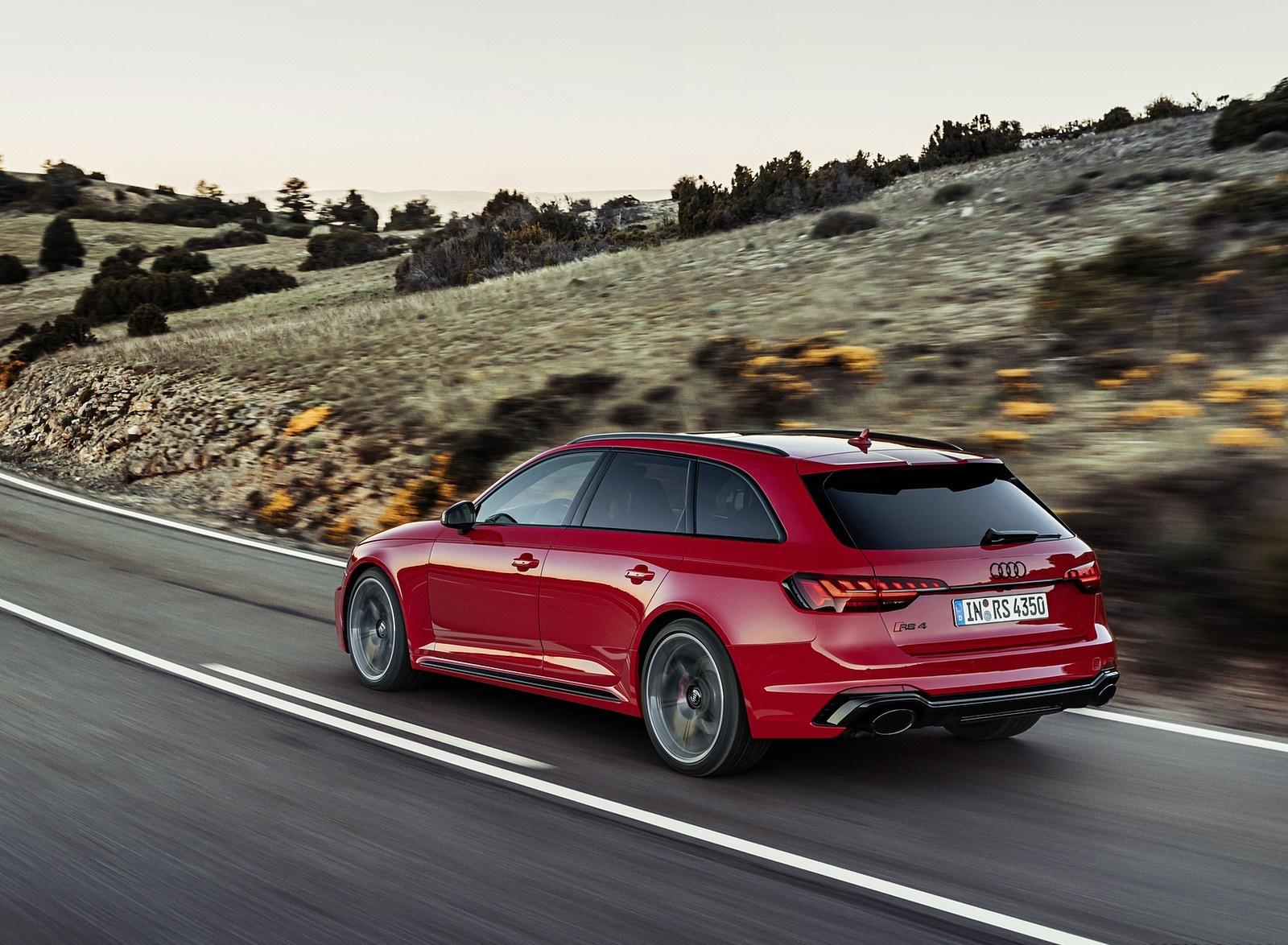 2020 Audi RS 4 Avant (Color: Tango Red) Rear Three-Quarter Wallpapers (7)