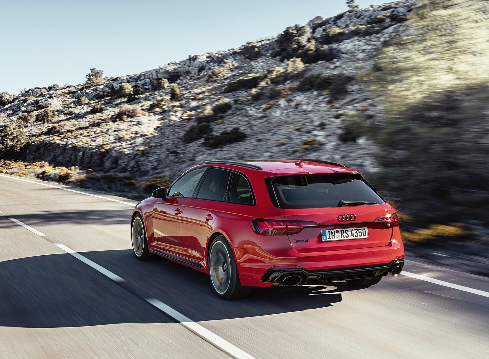 2020 Audi RS 4 Avant (Color: Tango Red) Rear Three-Quarter Wallpapers (8)