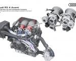 2020 Audi RS 4 Avant V6 TFSI engine with two turbo chargers mounted in the inner V Wallpapers 150x120 (48)
