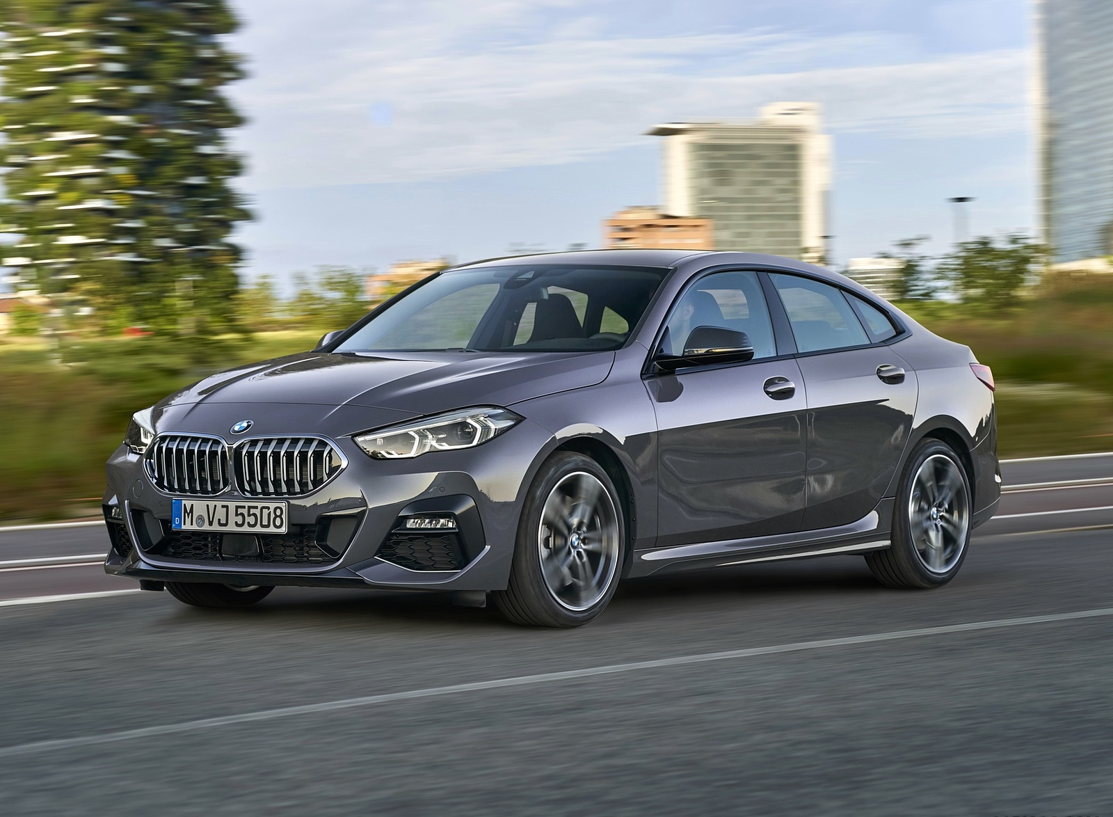 2020 BMW 2 Series 220d Gran Coupe M Sport (Color: Storm Bay Metallic) Front Three-Quarter Wallpapers (2)
