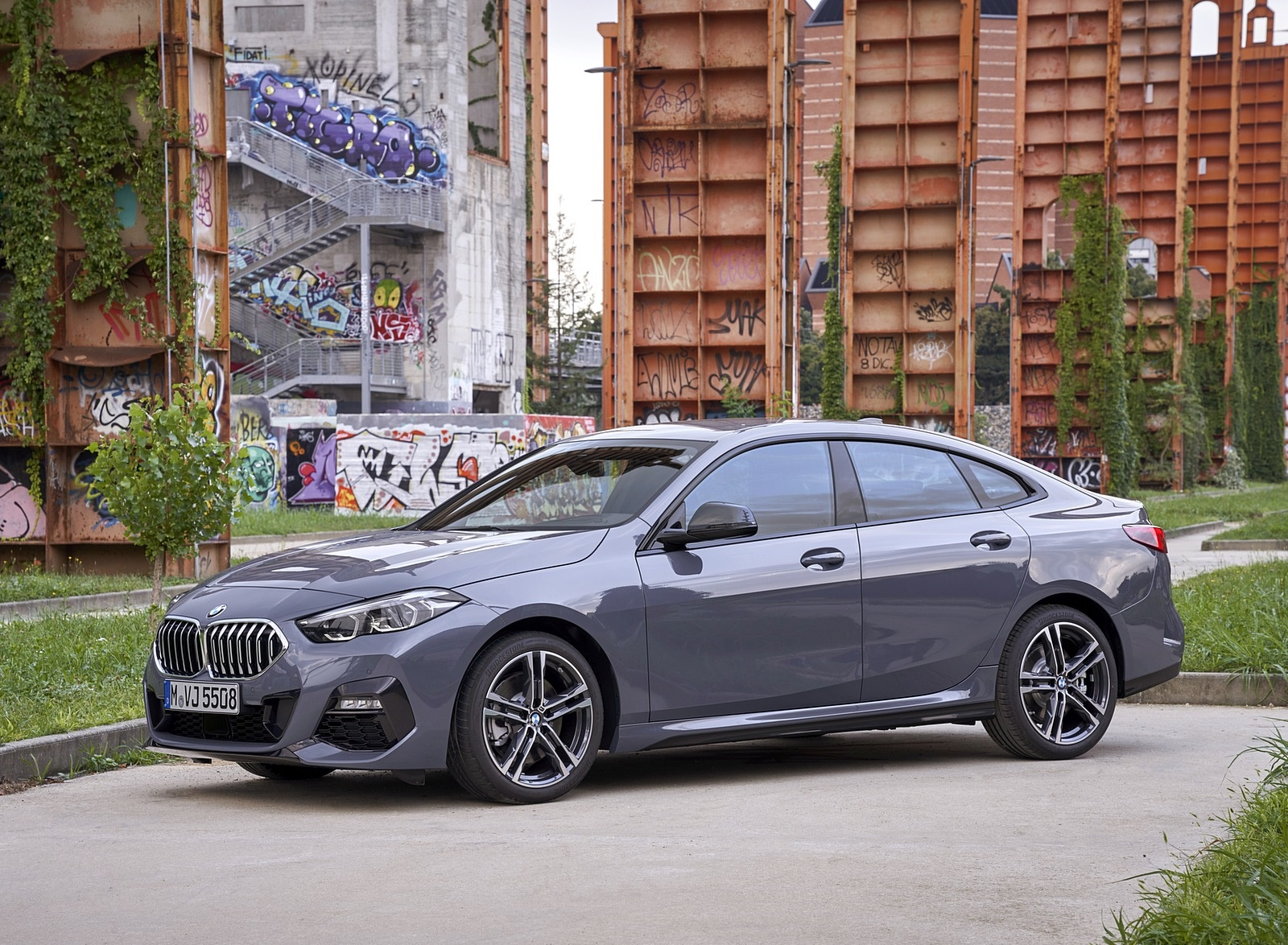 2020 BMW 2 Series 220d Gran Coupe M Sport (Color: Storm Bay Metallic) Front Three-Quarter Wallpapers (15)