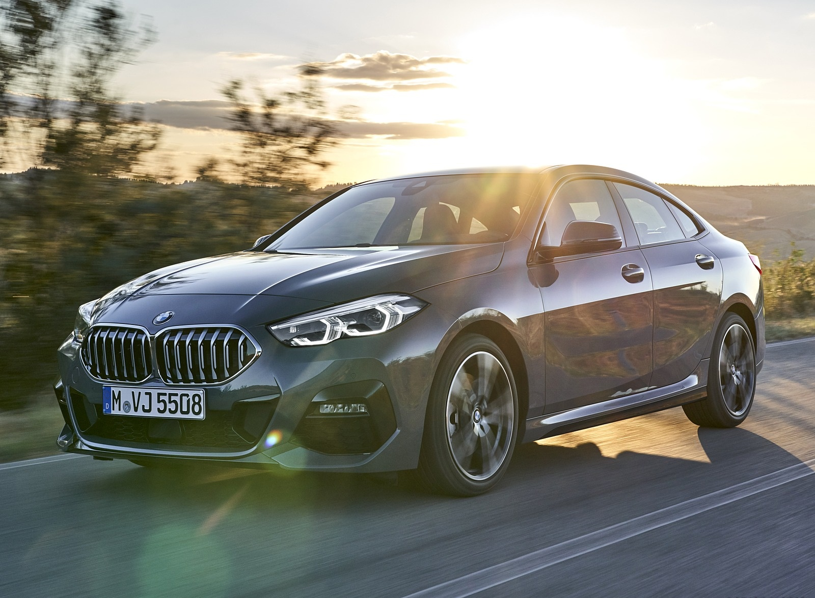 2020 BMW 2 Series 220d Gran Coupe M Sport (Color: Storm Bay Metallic) Front Three-Quarter Wallpapers (4)