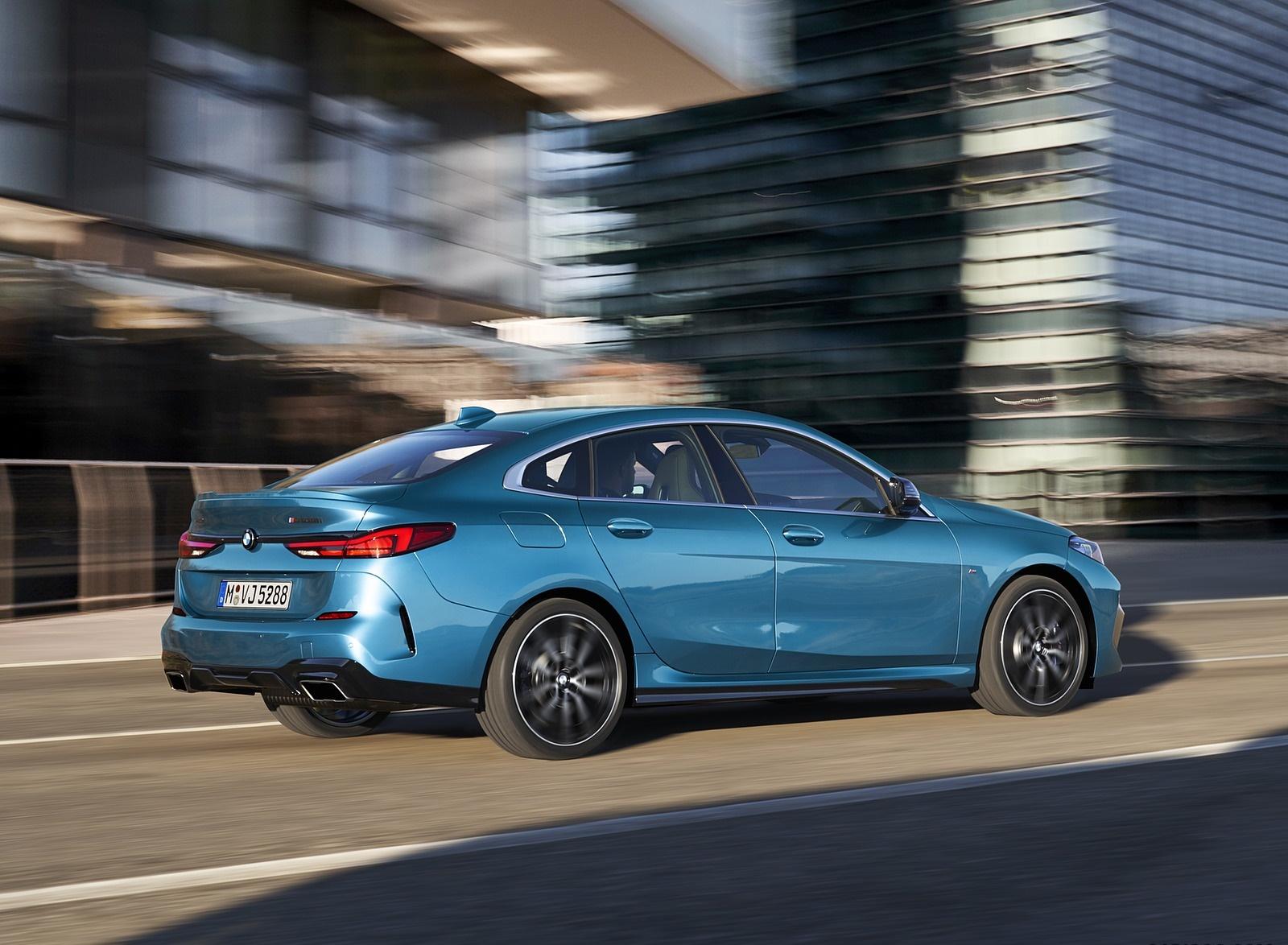 2020 BMW M235i Gran Coupe xDrive (Color: Snapper Rocks Blue Metallic) Rear Three-Quarter Wallpapers (2)