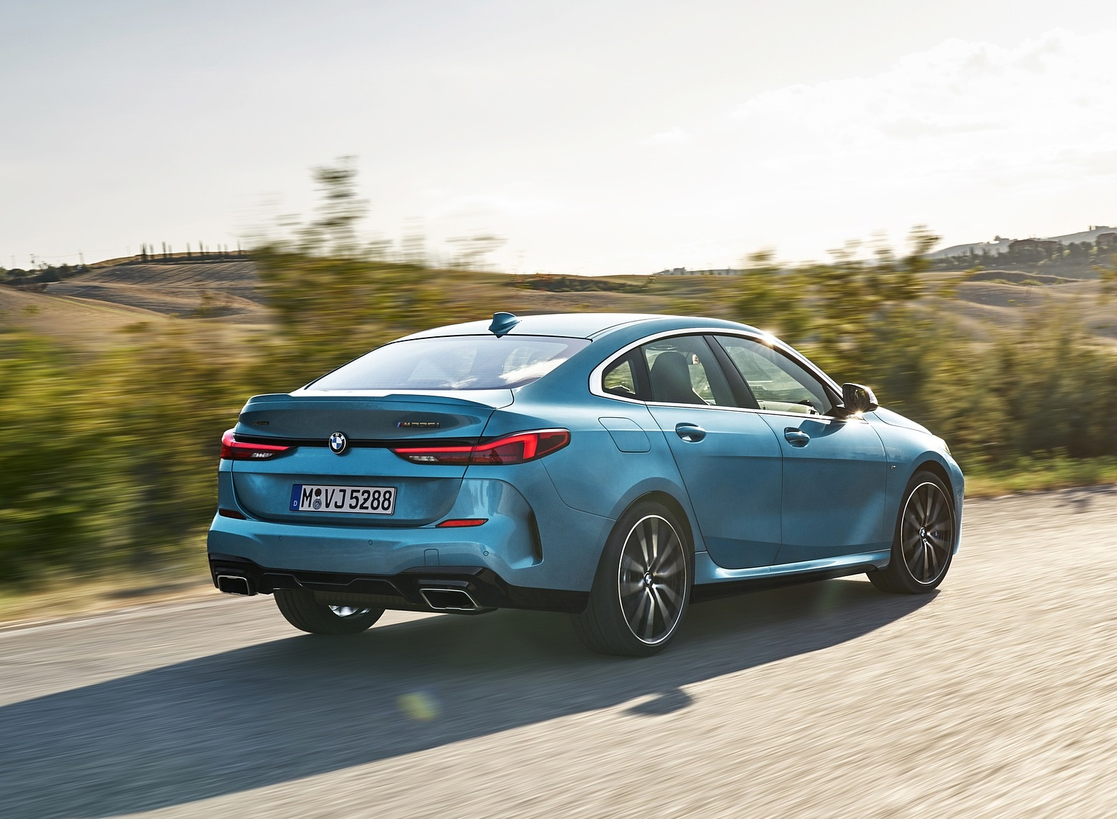 2020 BMW M235i Gran Coupe xDrive (Color: Snapper Rocks Blue Metallic) Rear Three-Quarter Wallpapers (15)