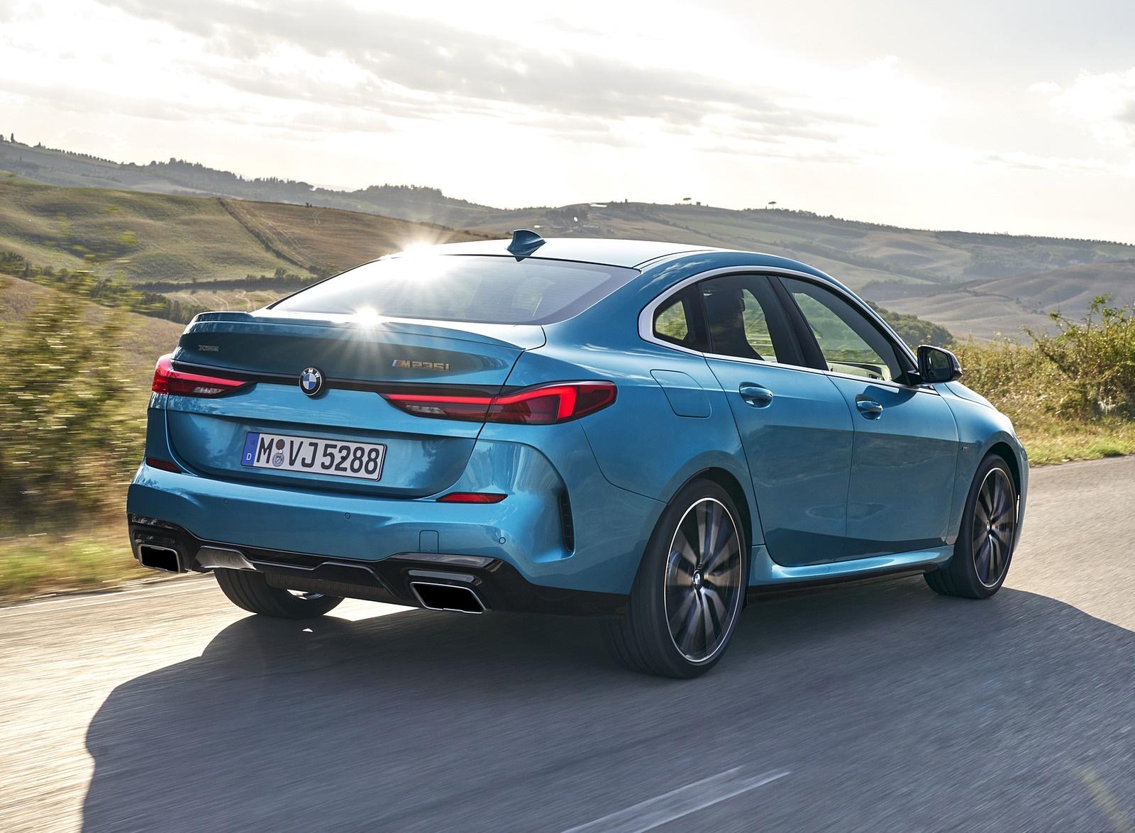 2020 BMW M235i Gran Coupe xDrive (Color: Snapper Rocks Blue Metallic) Rear Three-Quarter Wallpapers (5)