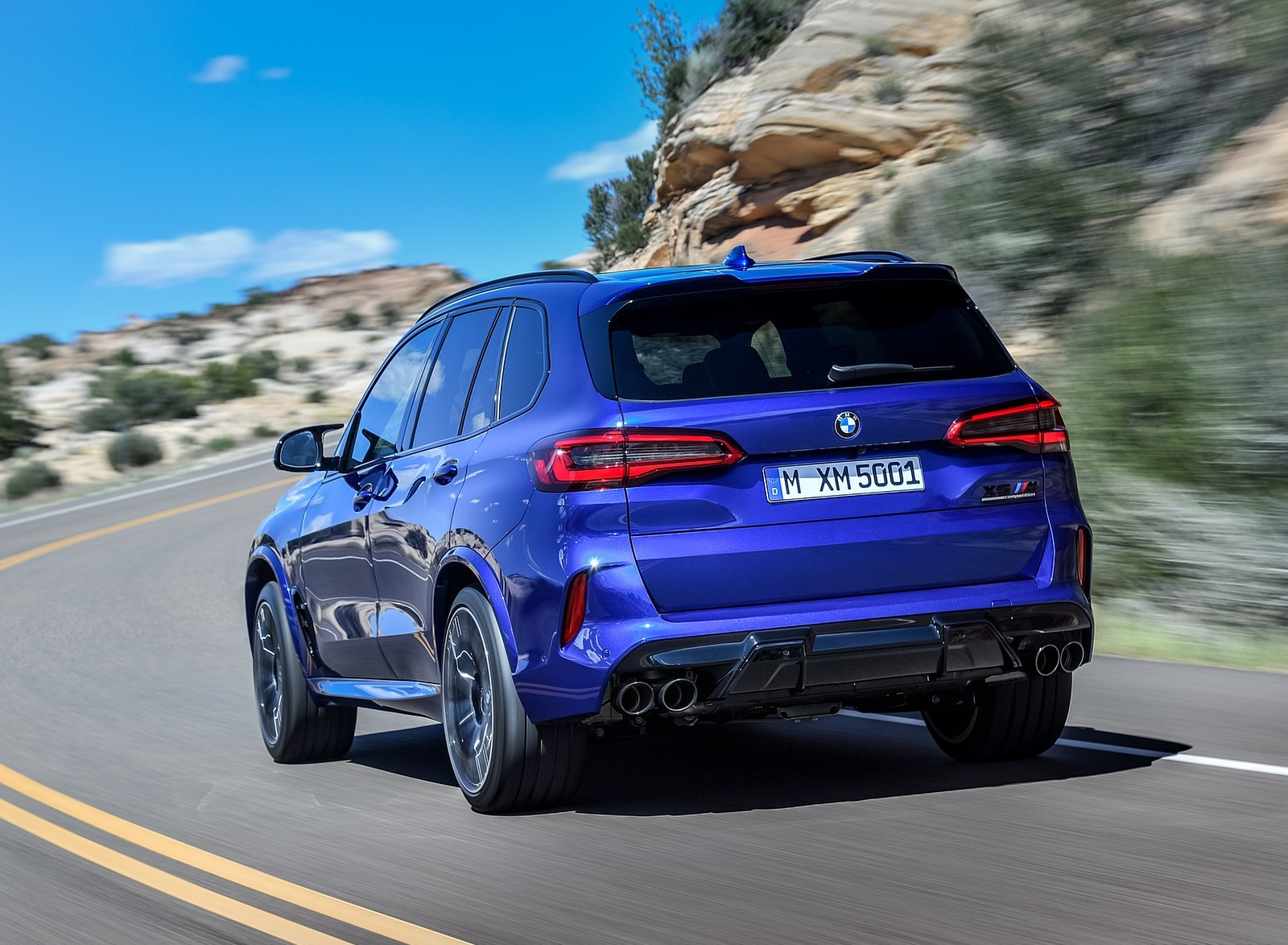 2020 BMW X5 M Competition Rear Three-Quarter Wallpapers (10)