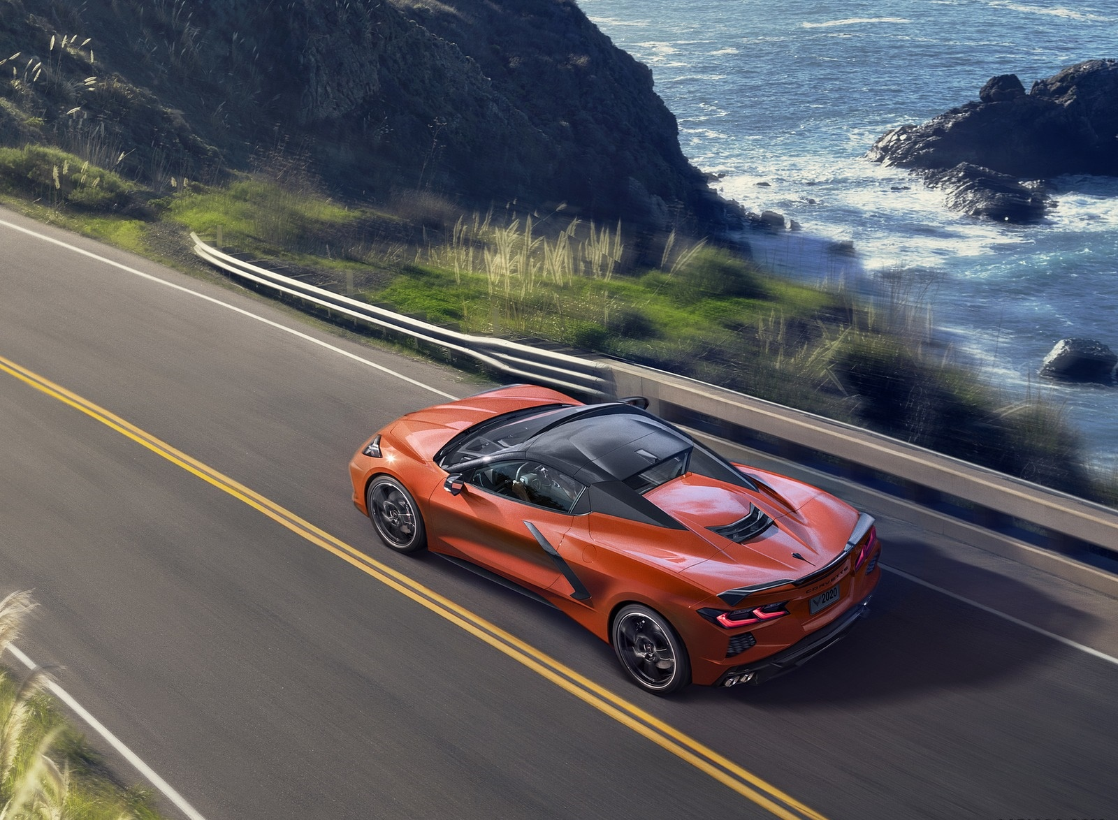 2020 Chevrolet Corvette Stingray Convertible Rear Three-Quarter Wallpapers (2)