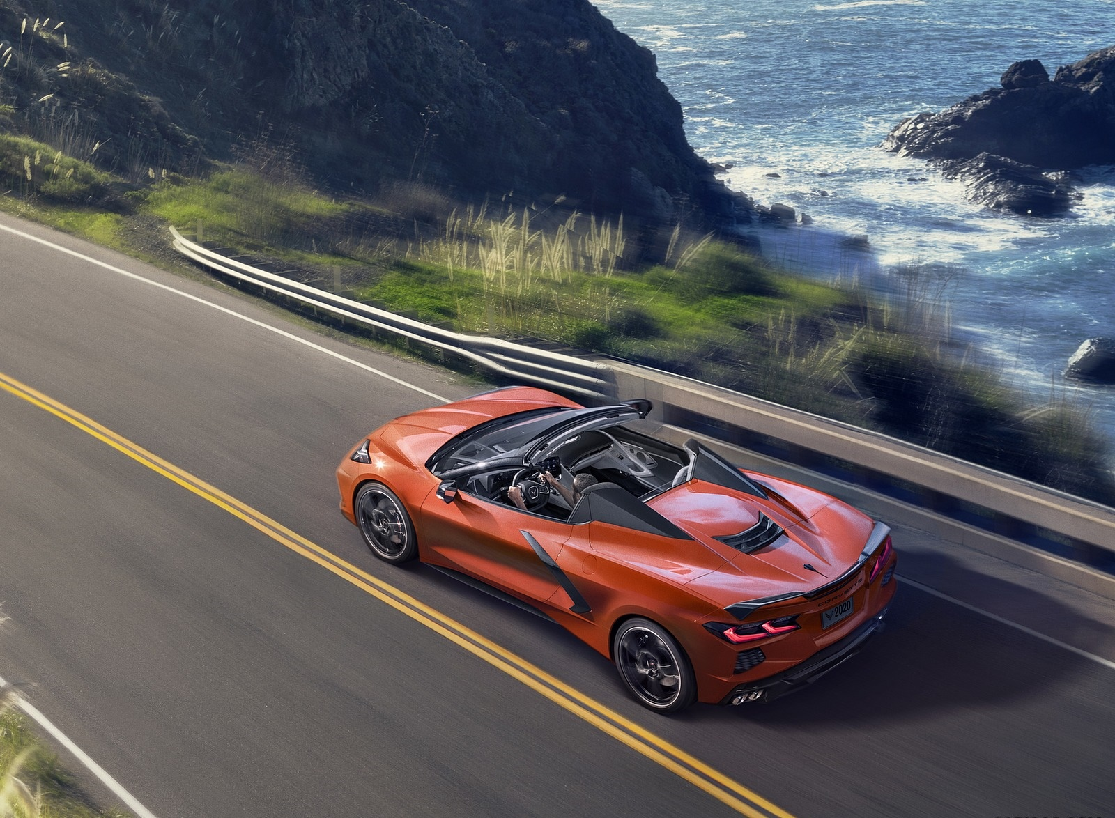 2020 Chevrolet Corvette Stingray Convertible Rear Three-Quarter Wallpapers (3)
