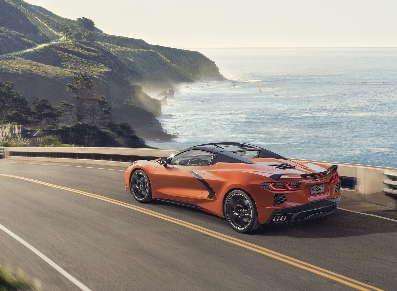 2020 Chevrolet Corvette Stingray Convertible Rear Three-Quarter Wallpapers (4)