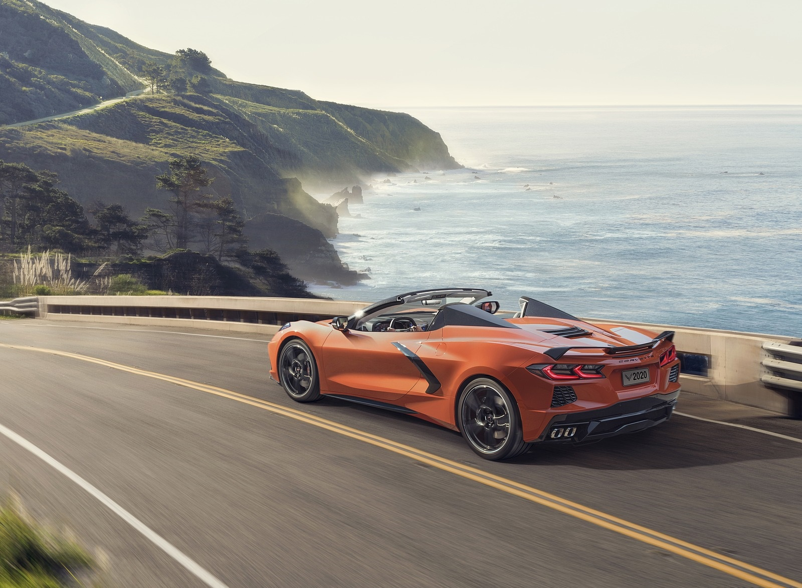 2020 Chevrolet Corvette Stingray Convertible Rear Three-Quarter Wallpapers (5)
