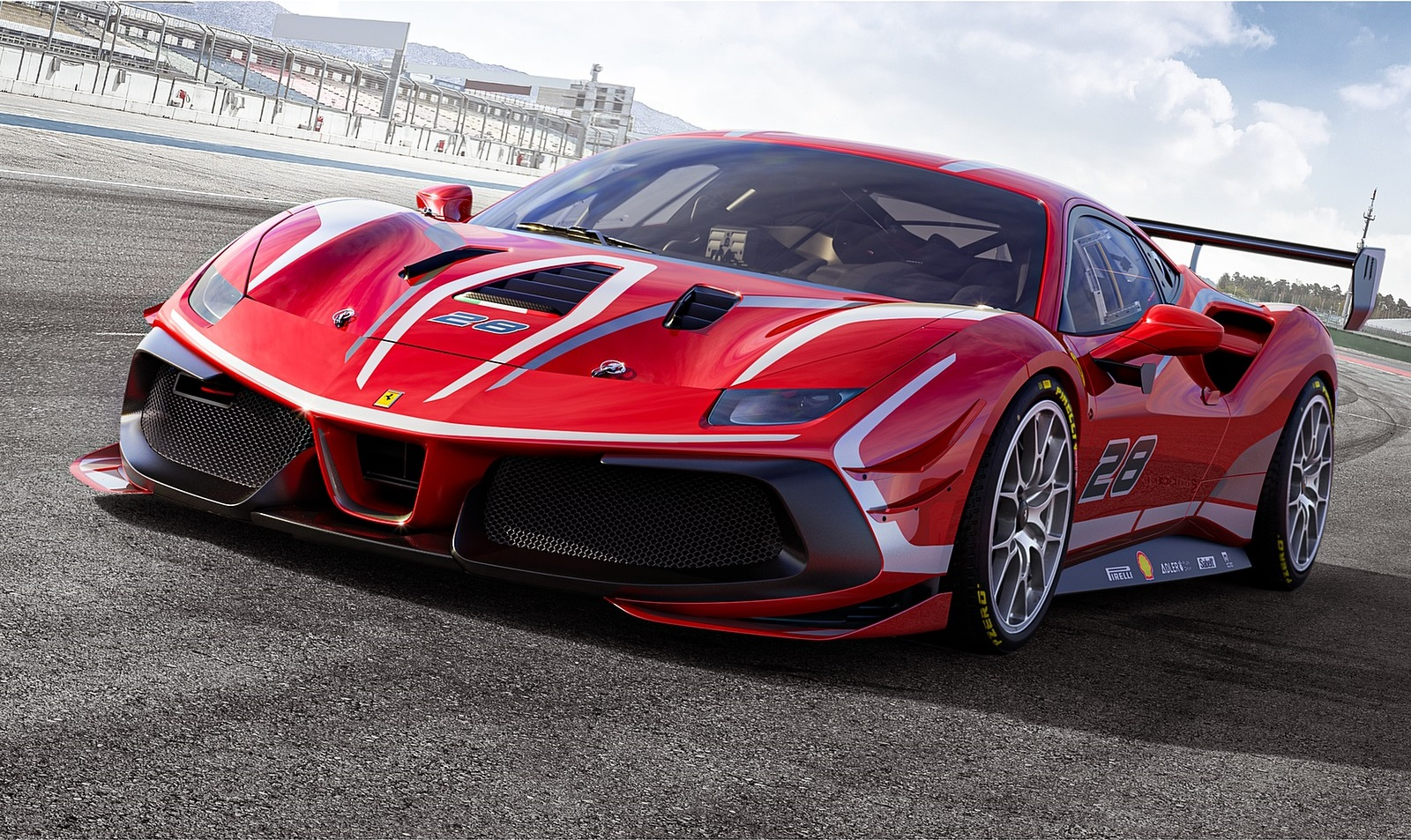 2020 Ferrari 488 Challenge Evo Front Three-Quarter Wallpapers (2)