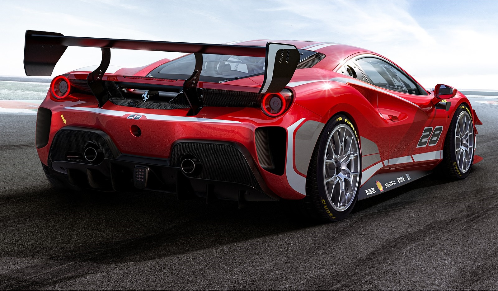 2020 Ferrari 488 Challenge Evo Rear Three-Quarter Wallpapers (3)
