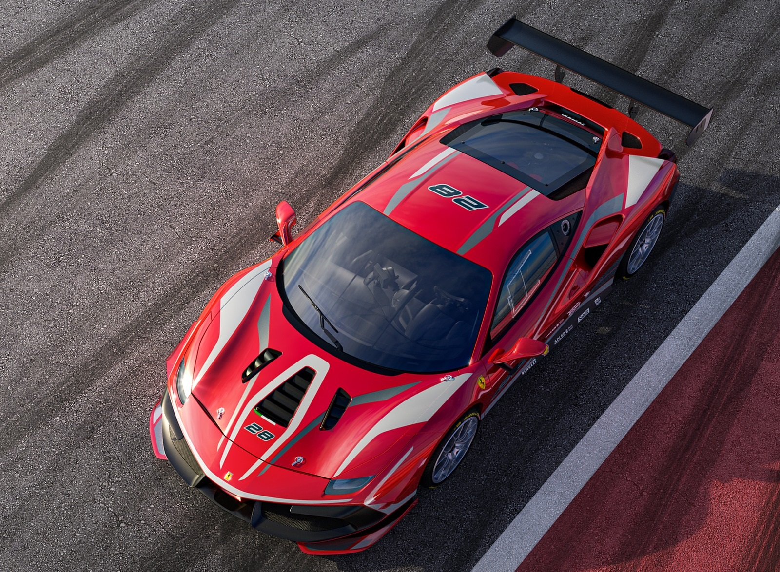 2020 Ferrari 488 Challenge Evo Top Wallpapers (1)