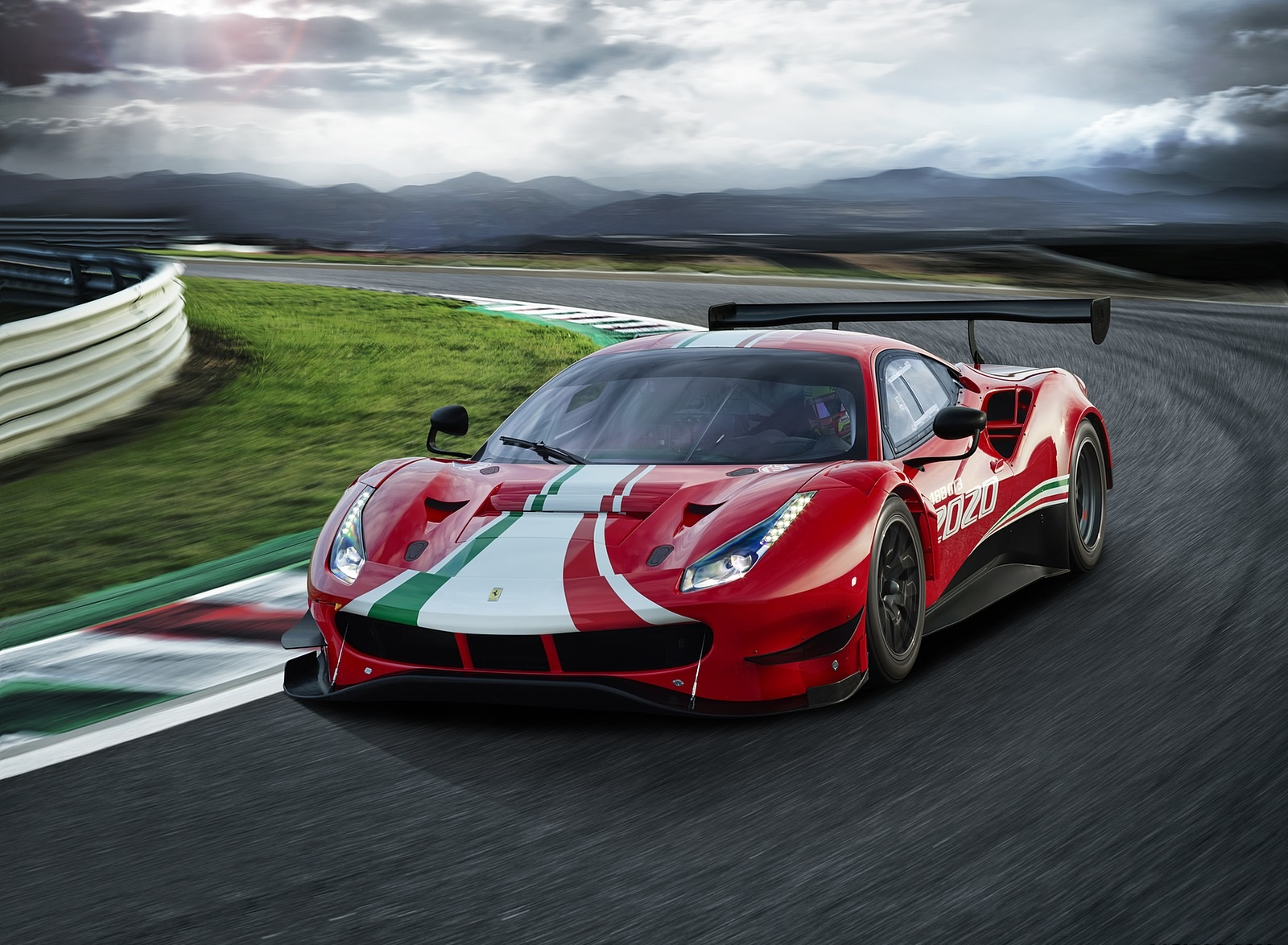 2020 Ferrari 488 GT3 EVO Front Three-Quarter Wallpapers (3)