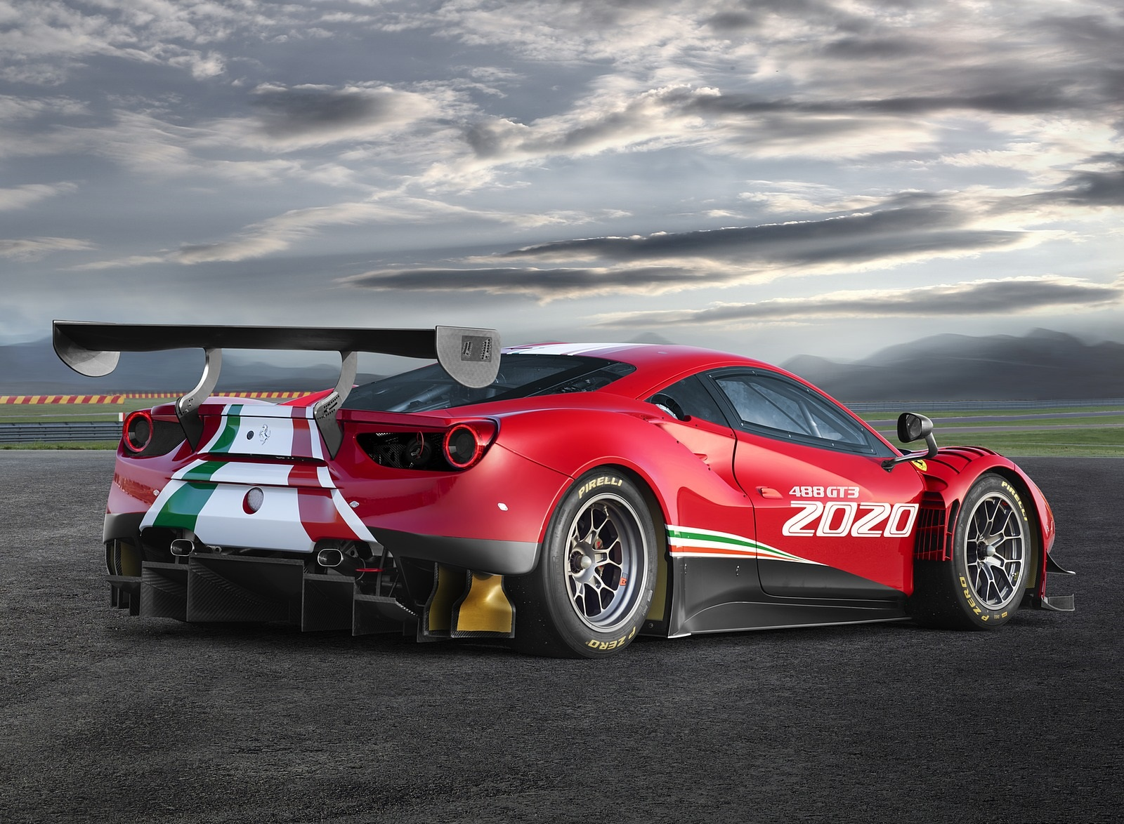 2020 Ferrari 488 GT3 EVO Rear Three-Quarter Wallpapers (6)