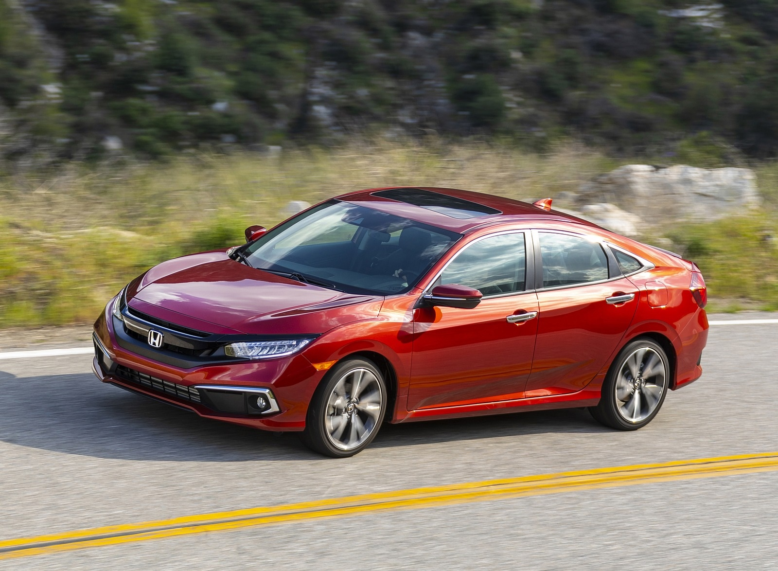 2020 Honda Civic Sedan Touring Front Three-Quarter Wallpapers (5)