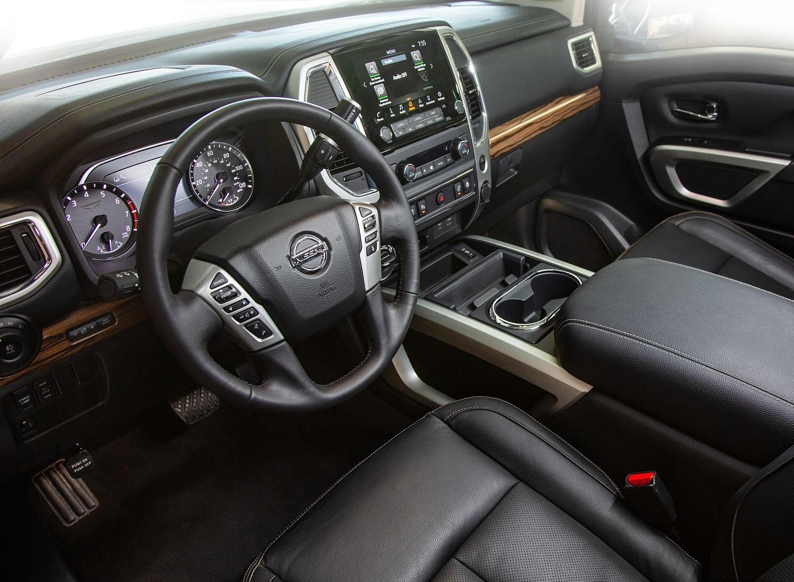 2020 Nissan Titan Platinum Reserve Interior Wallpapers 32 Newcarcars