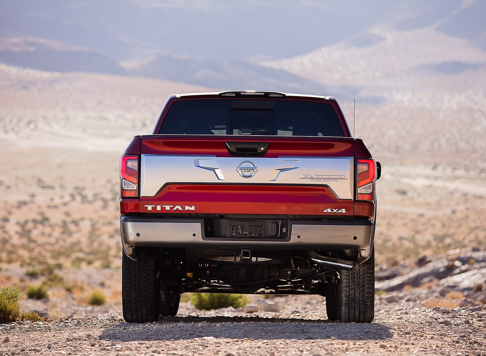 2020 Nissan TITAN Platinum Reserve Rear Wallpapers (5)