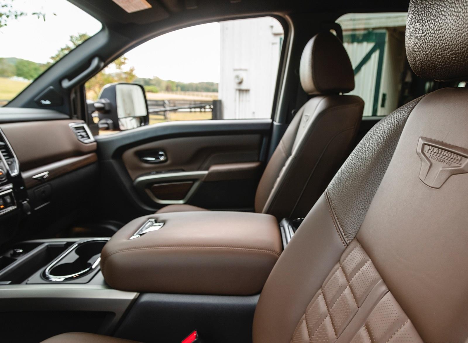 2020 Nissan Titan Xd Platinum Reserve Interior Seats Wallpapers 22 Newcarcars